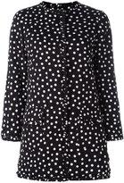 Dolce & Gabbana polka dot print coat - women - Silk/Polyester/Spandex/Elastane - 42