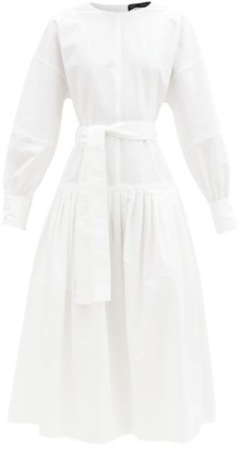 Proenza Schouler Pleated Cotton-blend Canvas Dress - White