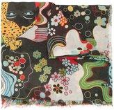 Mary Katrantzou psychedelic print scarf - women - Modal/Cashmere - One Size