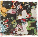 Mary Katrantzou psychedelic print scarf
