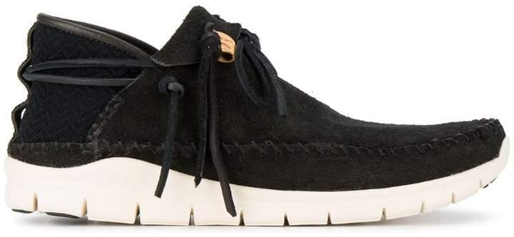 Visvim black UTE Moc Folk sneakers