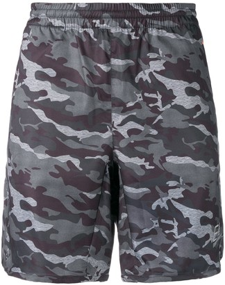 EA7 Emporio Armani Camouflage Print Swim Shorts