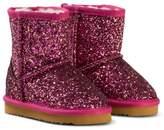 Lelli Kelly Kids Pink Diamante Fuchsia Sandra Shearling Ankle Boots