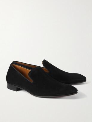 Christian Louboutin Grosgrain-Trimmed Velvet Loafers