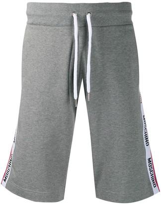 Moschino Logo-Stripe Track Shorts