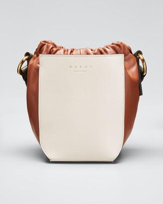 Marni Galet Colorblock Leather Drawstring Crossbody Bag