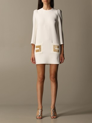 Elisabetta Franchi 3/4 Cady Sleeve With Fringed Logo