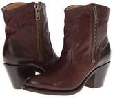 Frye Leslie Zip Bootie (Dark Brown Vintage Veg Tan) - Footwear