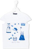 Miss Blumarine printed T-shirt - kids - Cotton/Spandex/Elastane - 4 yrs