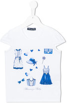 Miss Blumarine printed T-shirt - kids - Cotton/Spandex/Elastane - 6 yrs