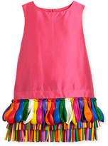 Charabia Ida Sleeveless Taffeta Shift Dress w/ Balloons, Fuchsia, Size 2-4