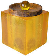 One Kings Lane Vintage Acrylic Ice Bucket Cork & Wood
