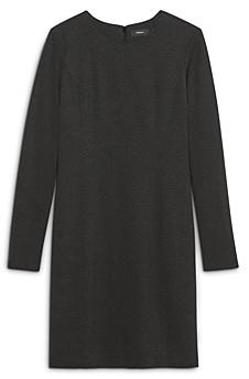 Theory Seamed Long Sleeve Dress