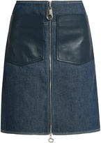Edun Patch-pocket denim skirt