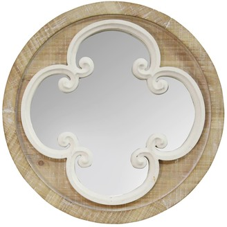 """Stratton Home 13.78"""" Tory Wood Wall Mirror"""