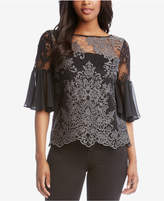 Karen Kane Lace Flared-Sleeve Top