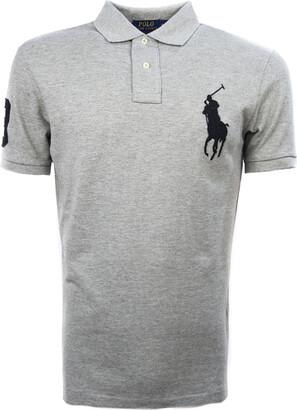 Ralph Lauren Grey Cotton Polo Shirt