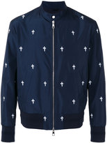 Neil Barrett Fleur de Thunder bomber jacket - men - Cotton/Polyester/Viscose - M