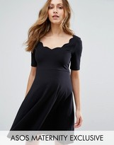 Asos Scallop Skater Dress