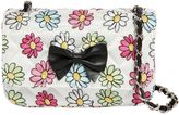 MonnaLisa Daisy Printed Quilted Canvas Bag