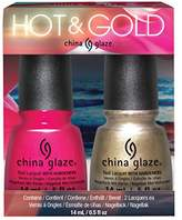 China Glaze 2 pc Hot and Gold (High Standards & Sun - Set the mood)