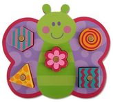 Stephen Joseph Butterfly Shaped Wooden Peg Puzzle in Purple