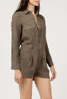 Azalea L/S Silky Button Down Romper