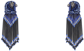 Forest of Chintz Jeweled Sapphire Falcon Earrings