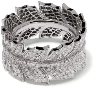 Stephen Webster 18kt white gold Magnipheasant pave diamond ring