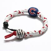 Frozen rope chicago cubs leather baseball bracelet