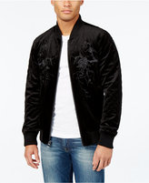 GUESS Men's Fulham Velvet Bomber Jacket