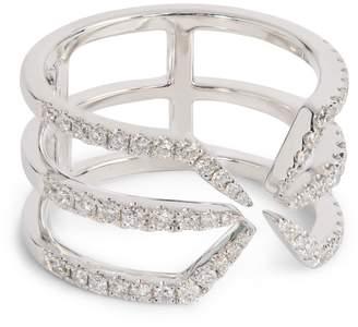 Djula White Gold and Diamond Corset Ring
