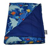 """WEIGHTED BLANKETS PLUS LLC - CHILD SMALL WEIGHTED BLANKET - DOLPHIN - COTTON/FLANNEL (48""""L x 30""""W) 7lb HIGH PRESSURE"""