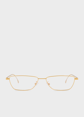 Paul Smith Gold 'Askew' Spectacles