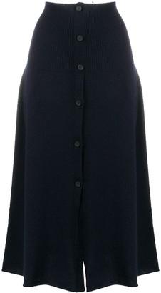 Fabiana Filippi Cashmere Button-Down Midi Skirt