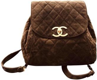 Chanel Brown Suede Backpacks