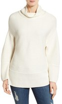 Vince Camuto Petite Women's Ribbed Funnel Neck Sweater