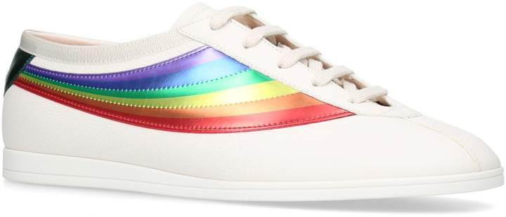 Gucci Rainbow Leather Competition Sneakers