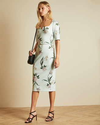 Ted Baker MAGIEYY Elderflower fitted dress