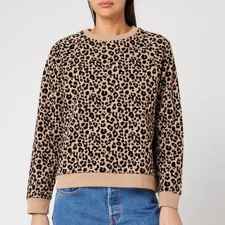 Whistles Women's Flocked Leopard Sweater