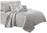 Serenta Birdsong 6-Piece Bed Spread Set, Gray, Cal King