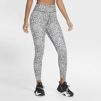 Nike Women's Mid-Rise Printed Tights One Luxe