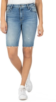 KUT from the Kloth Sophie Distressed Denim Bermuda Shorts
