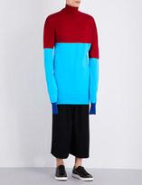 J.W.Anderson Turtleneck striped knitted jumper