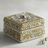 Pier 1 Imports Gold Bejeweled Jewelry Box