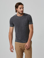 Frank and Oak Loose Fit Cotton-Jersey T-shirt in Burnout Black