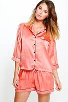 Boohoo Laura Satin Button Through Short Pyjama Set