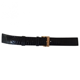 Christian Dior Black Lizard Skin Watch Bracelet