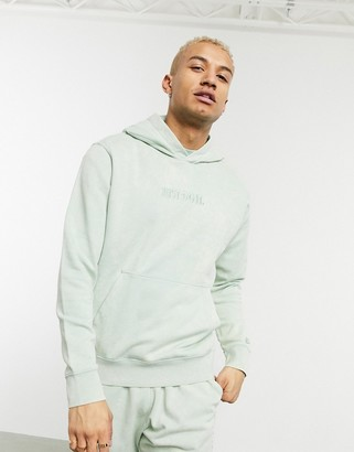 Nike Just Do It washed hoodie in green