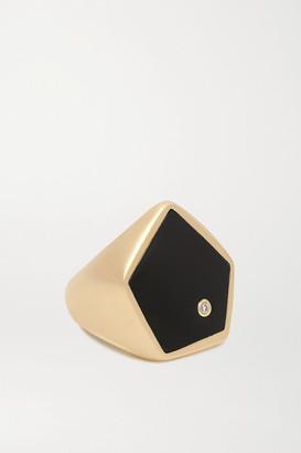 Yvonne Léon 9-karat Gold, Onyx And Diamond Ring - 4